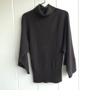 BCBG women small business casual brown turtleneck